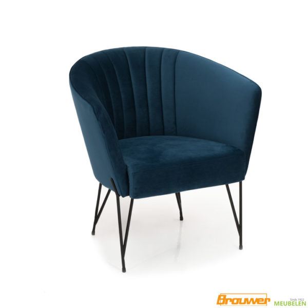 kleine fauteuil blauw kuipfauteuil