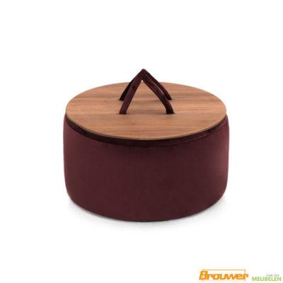 ronde hocker met hout