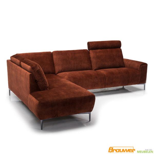 velvet relaxbank adore copper hoekbank heerhugowaard alkmaar