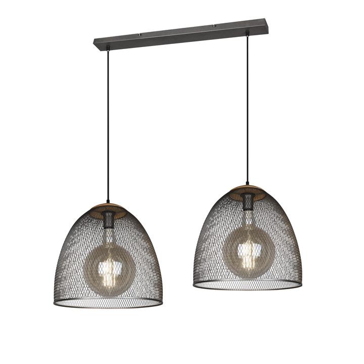 hanglamp 2 lichts grote kap