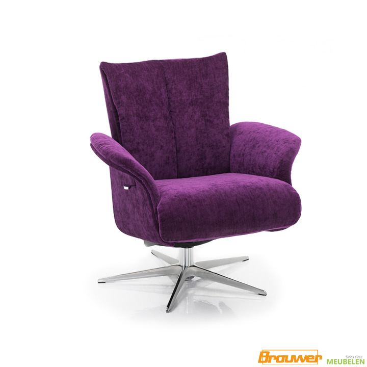 paarse fauteuil relaxfauteuil