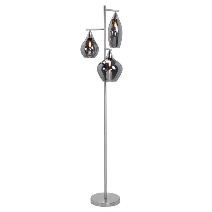 moderne vloerlamp nikkel mat glas rook cambio