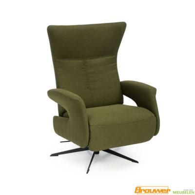 relaxstoel groen relaxfauteuil draaifauteuil groen stof