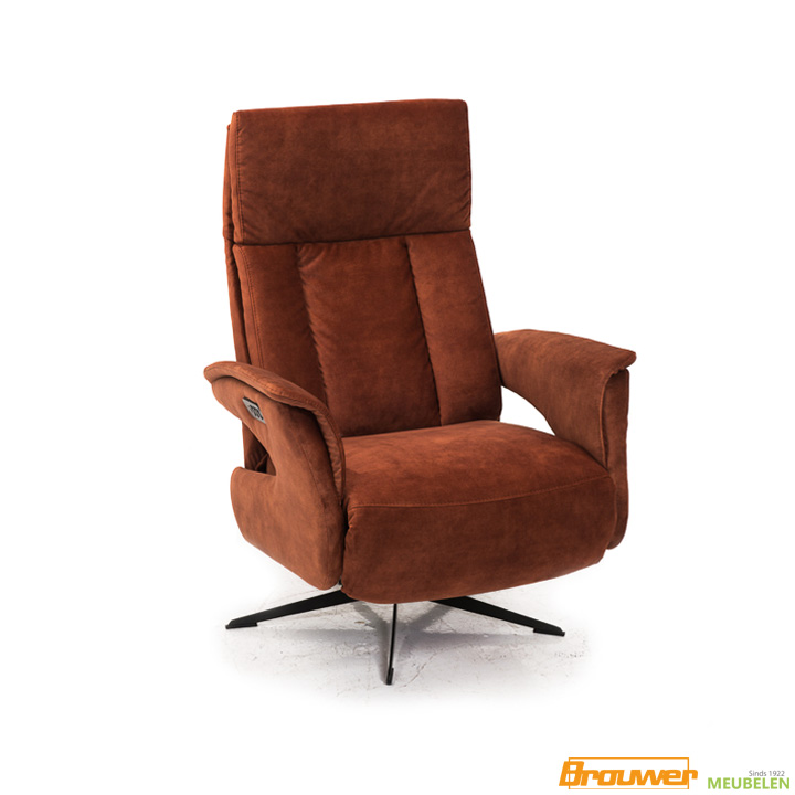 relaxfauteuil velvet copper adore stof