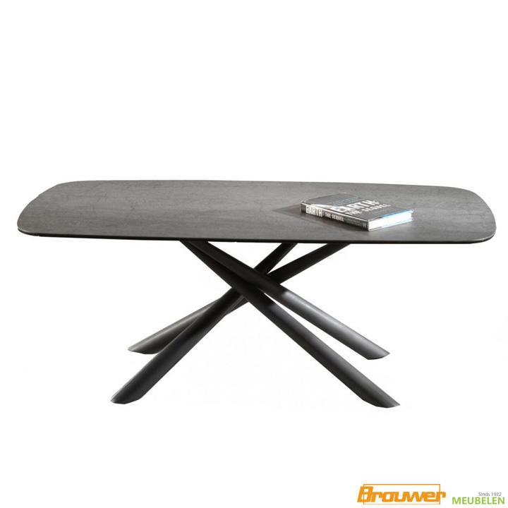 salontafel antraciet keramiek speelse tafel