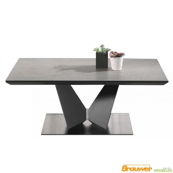 keramiek salontafel zwarte poot