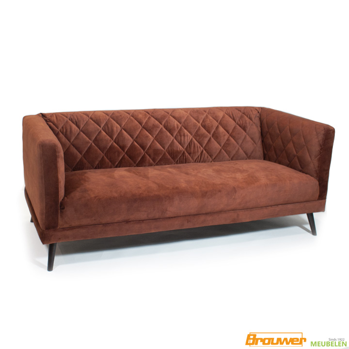 jaren 60 bank velours copper