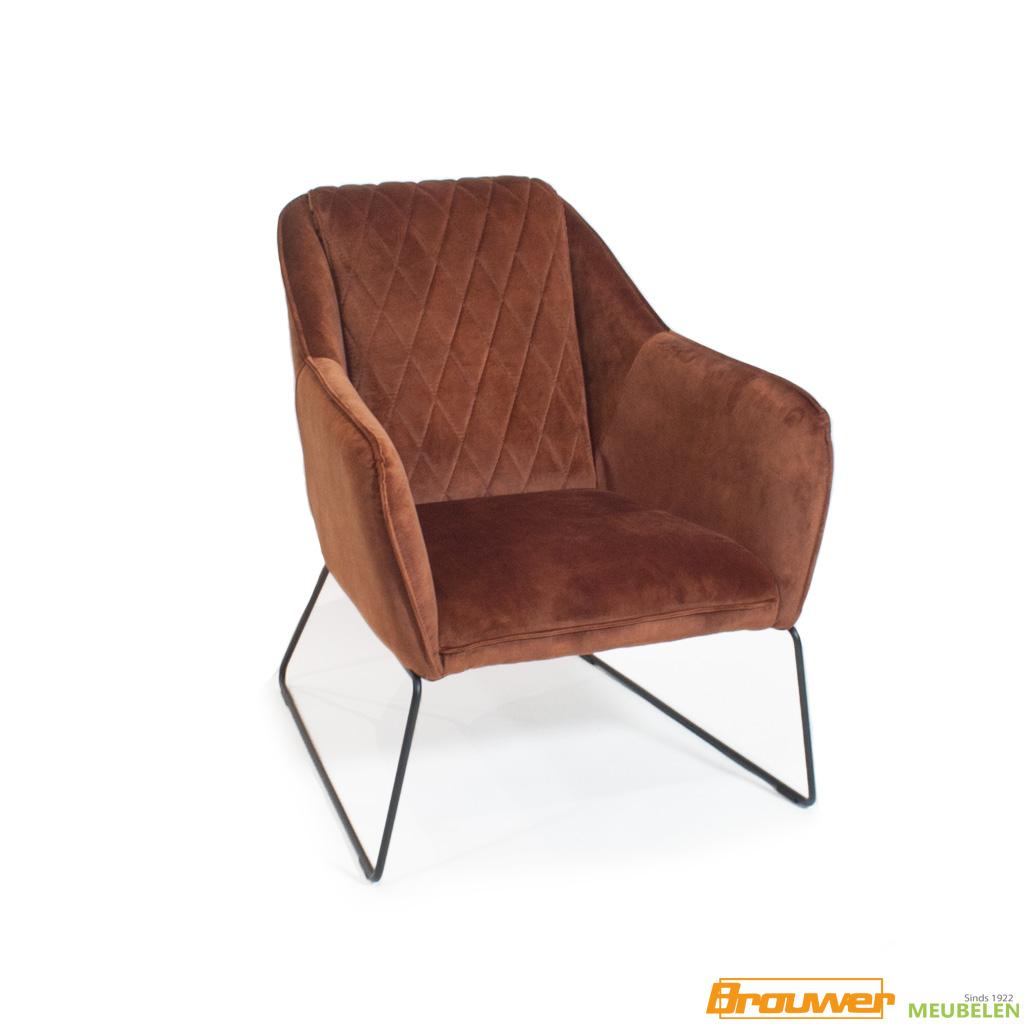 speelse fauteuil velvet adore