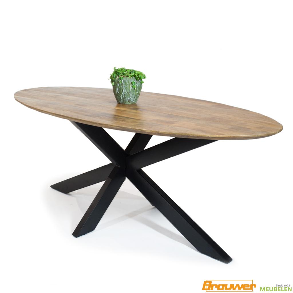 ovale mangohout tafel eetkamertafel ovaal bibi