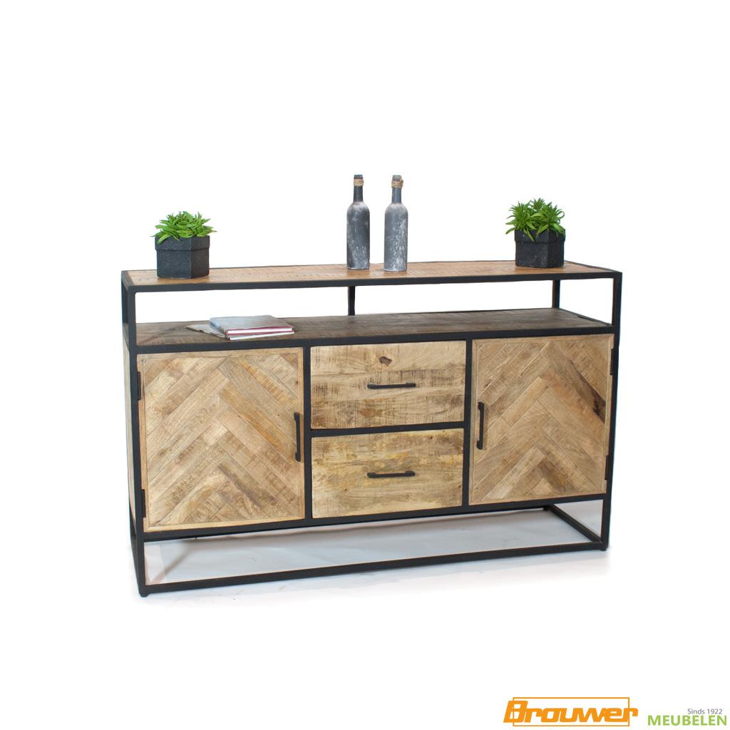 dressoir-visgraat-mangohout-kast-mango-exotische meubels