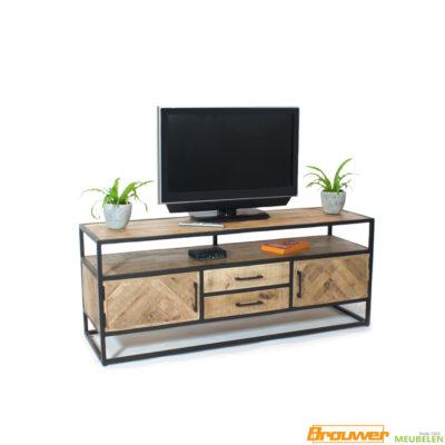 visgraat-mangohout-tv-meubel-mangohout-150cm