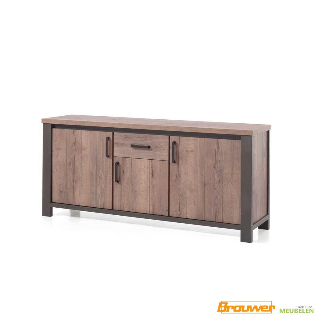 dressoir 190 cm bruin creme wit
