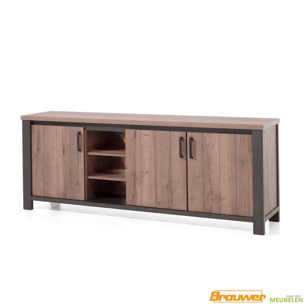 dressoir 230cm bruin donker