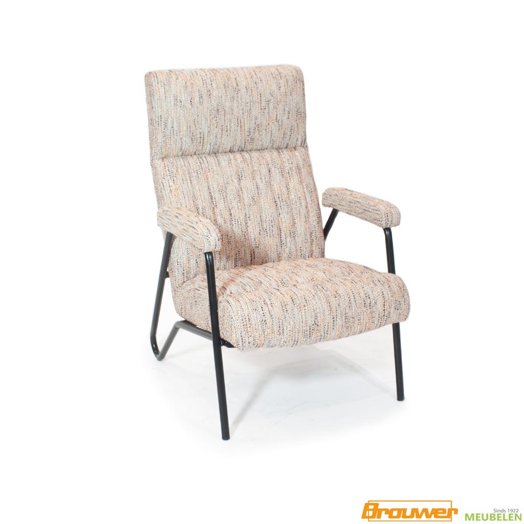 vintage fauteuil stoel lichte stof