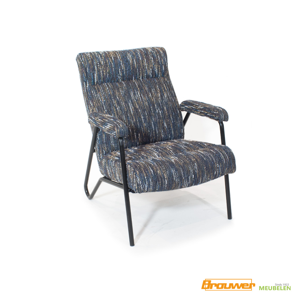 fauteuil vintage donkere stof