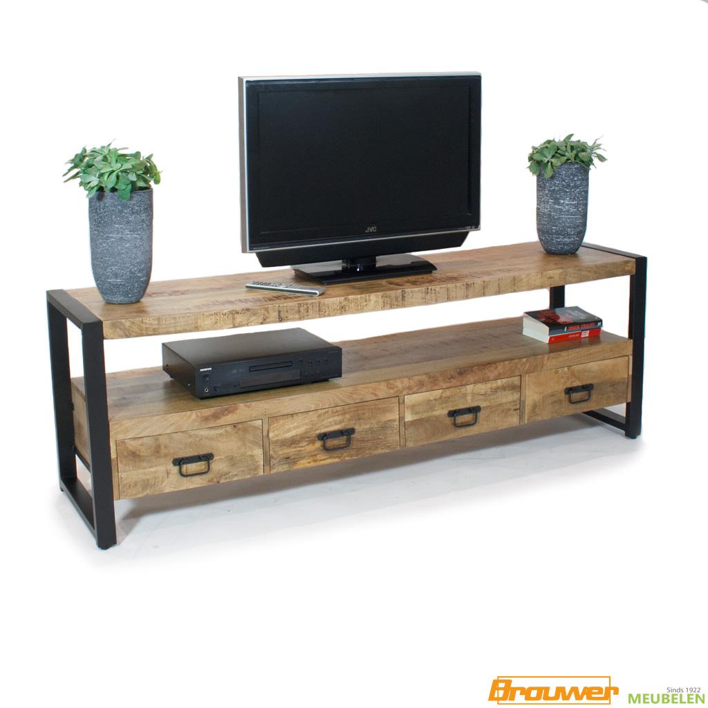 tv meubel 180 cm mangohout britt noord-holland